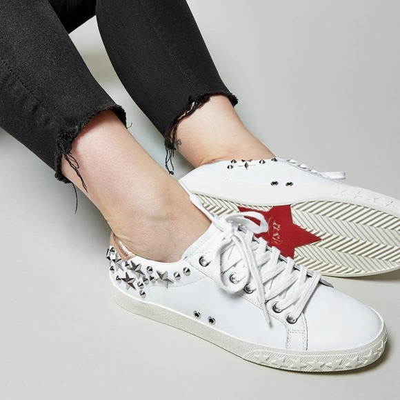 Dazed Star Studded Leather Sneakers 37